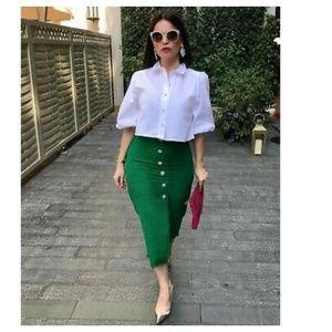 Zara tweef jewel buttons skirt (2083)